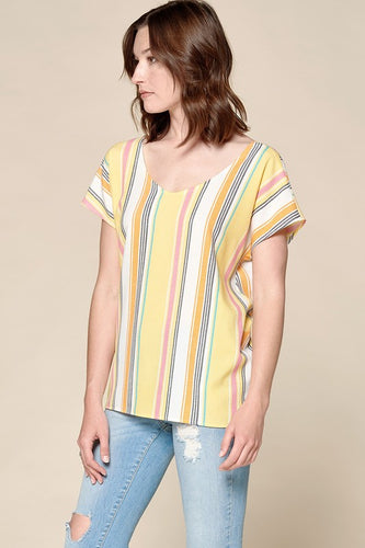 Back Knot Striped Top