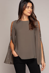 LONG BELL SLEEVE BLOUSE