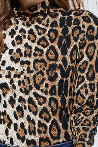 Leopard Mock Neck Bodysuit