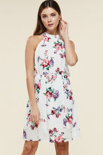 Halter Tie Back Floral Dress
