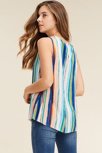 Sleeveless Watercolor Blouse