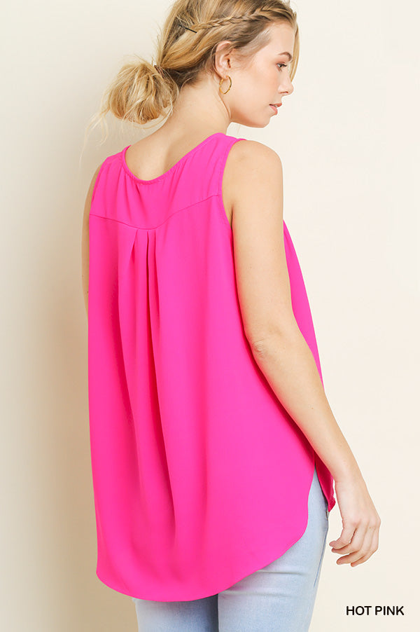 Gathered Front Hem Tank