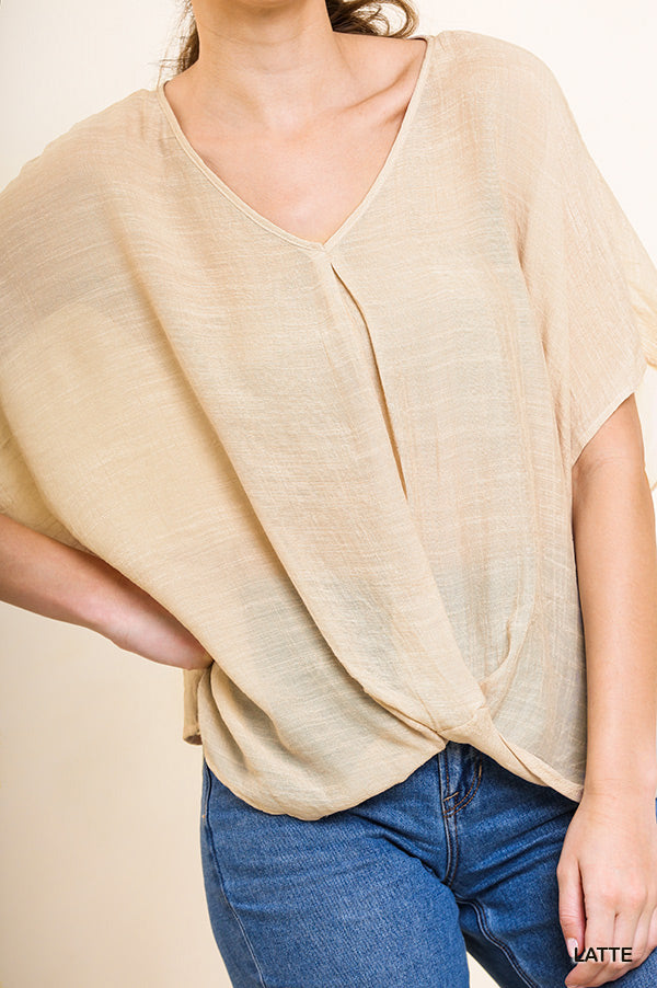 Sheer Cross Front Top