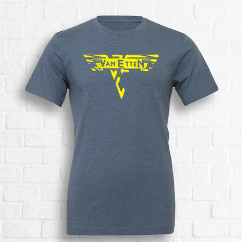 Sharon Van Etten - Van Halen Tee [Exclusive Yellow on Blue] [Preorder]