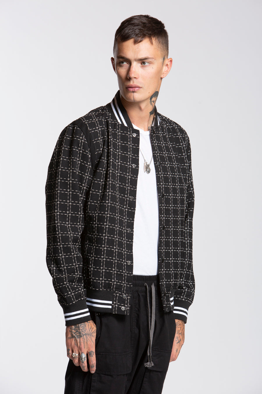 candorofficial - Check Varsity Jacket - Outerwear