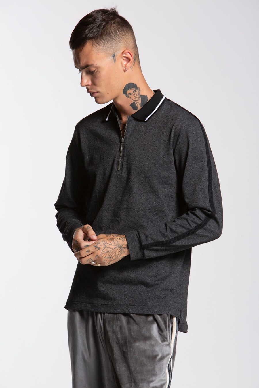candorofficial - Zip Longsleeve Polo - Shirts