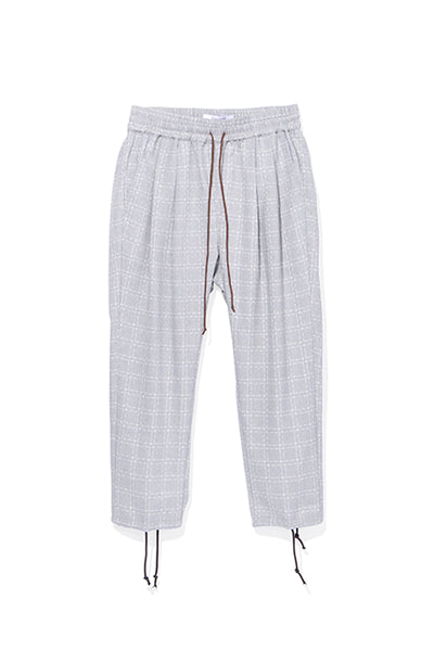 CHECK DRAWCORD PANT
