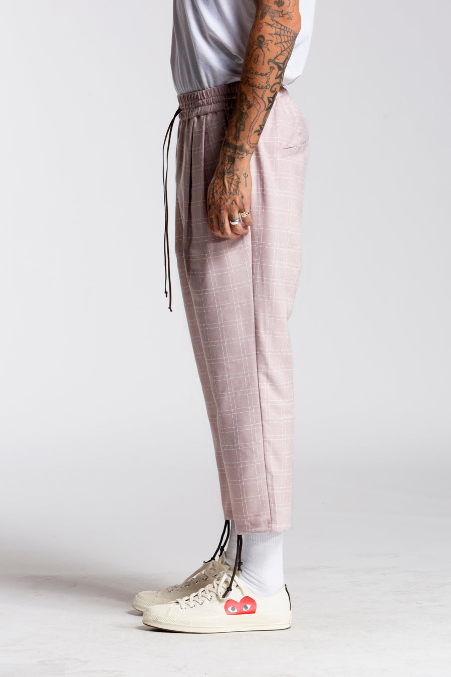 candorofficial - Check Drawcord Pant - Bottoms