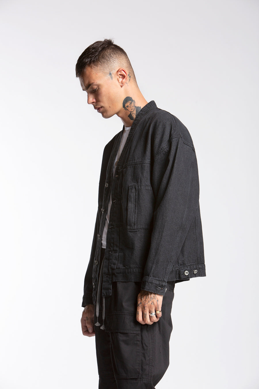 candorofficial - Noragi Denim Jacket, Black - Outerwear