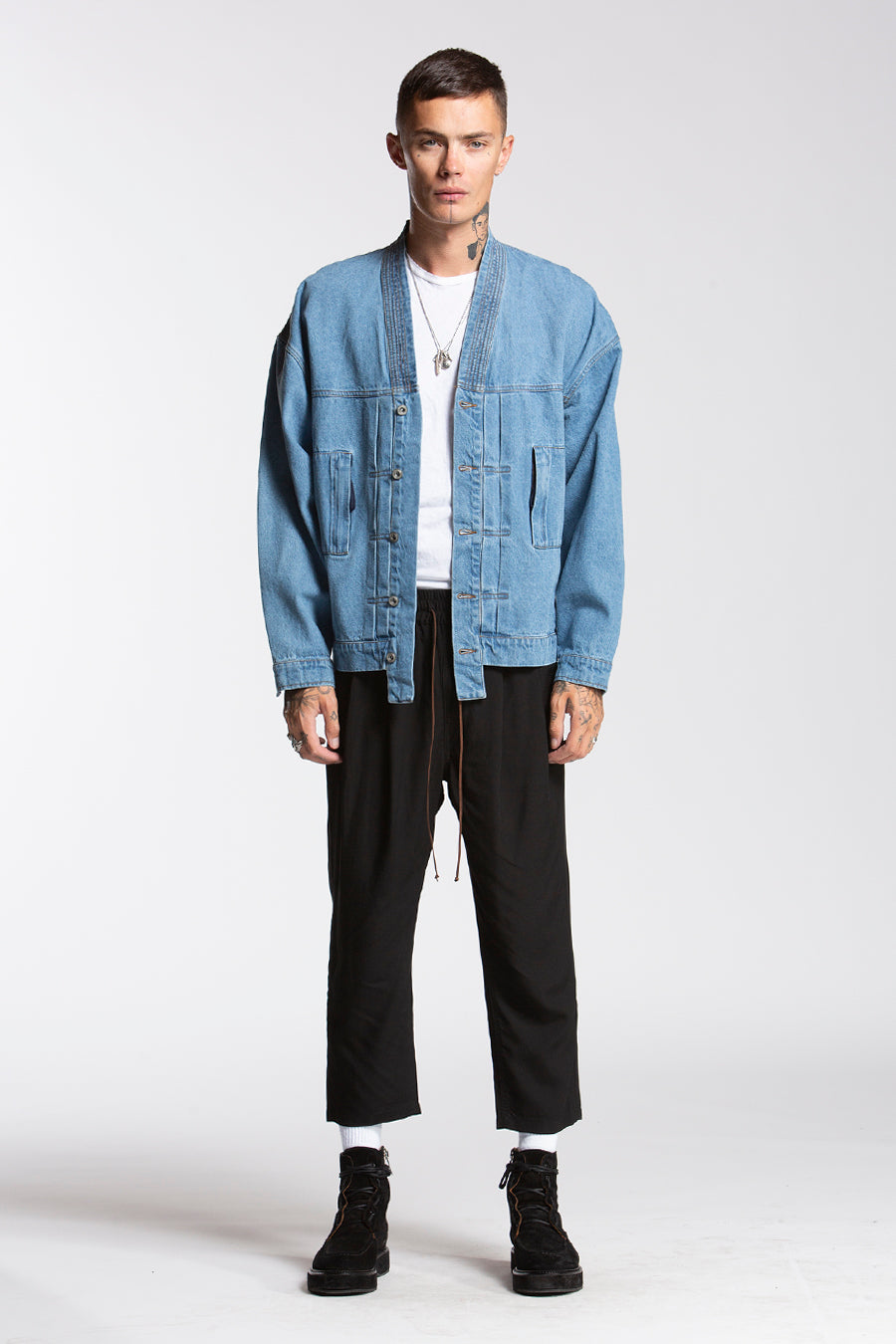 candorofficial - Noragi Denim Jacket, Indigo - Outerwear