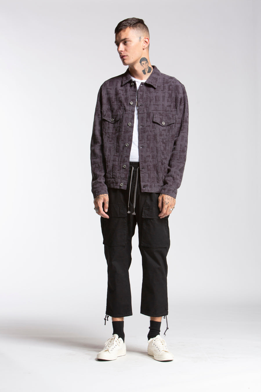 candorofficial - Dobby Trucker Jacket - Outerwear