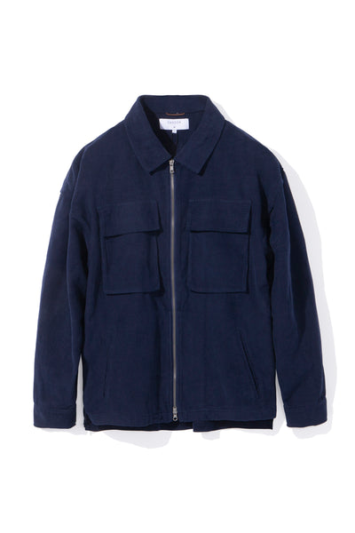 CORDUROY ZIP OVERSHIRT, NAVY