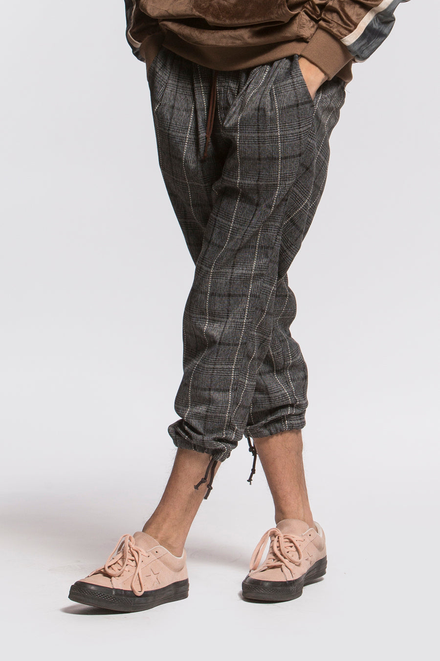 candorofficial - Plaid Drawcord Pant - Bottoms