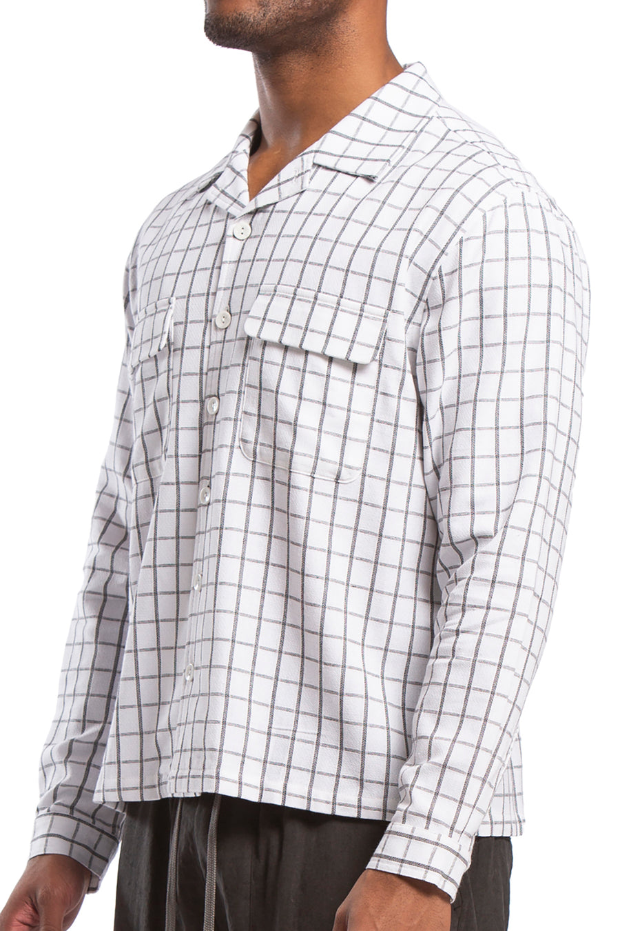 Mullins Board Shirt, White Check