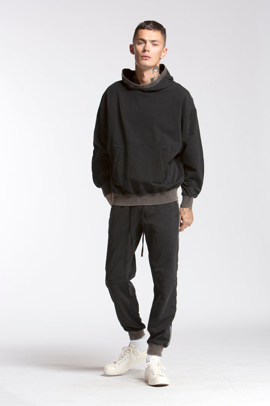 candorofficial - Washed Hoodie, Black - Sweatshirts