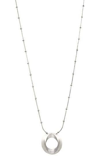 N0078 MET CXC Silver Necklace