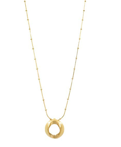 N0078 ORO CXC  Gold Necklace