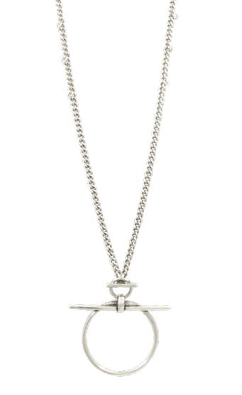 N0081 MET CXC Silver Necklace