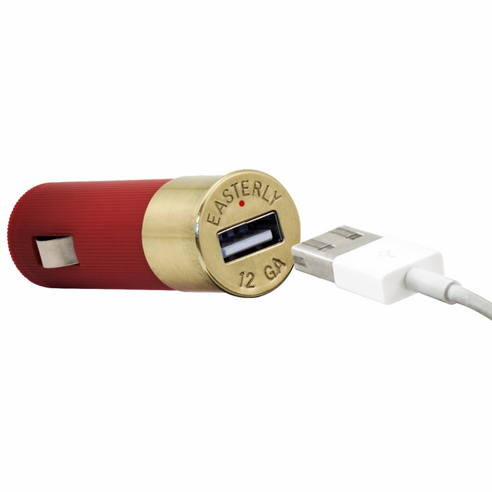 Power Shell - Shotgun Shell Car Charger USB by Easterly