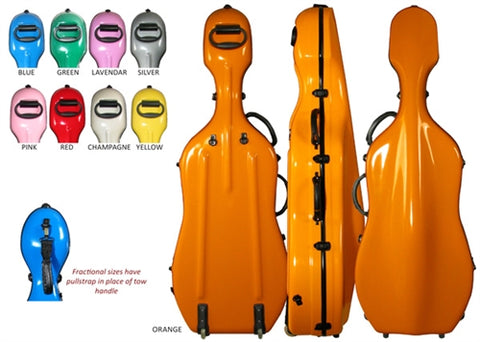 Core CC4300 Fiberglass Suspension Cello Case