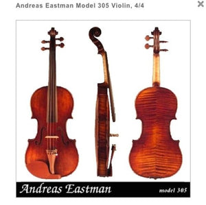Andreas Eastman Model 305 Violin Outfit, 4/4
