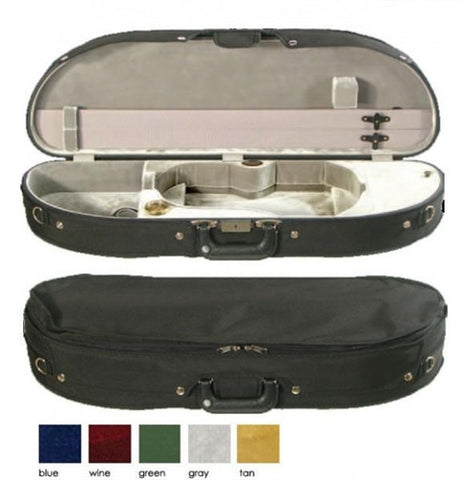 Bobelock 1047 Half Moon Suspension Violin Case/Velour
