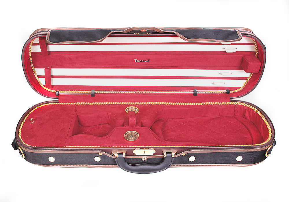 Tonareli Deluxe 1001 Violin Case, RED