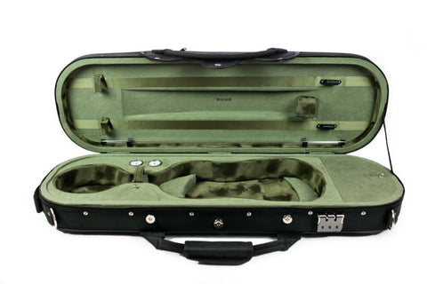 Tonareli Ultra Light Oblong Violin Case, Olive