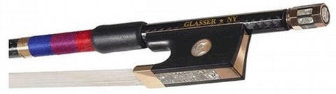 Glasser Gold-mounted Braided Violin Bow