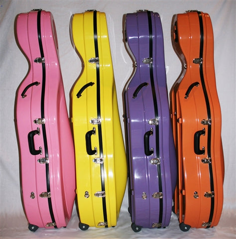 Bobelock 2000 Fiberglass Cello Case w/wheels, 3/4