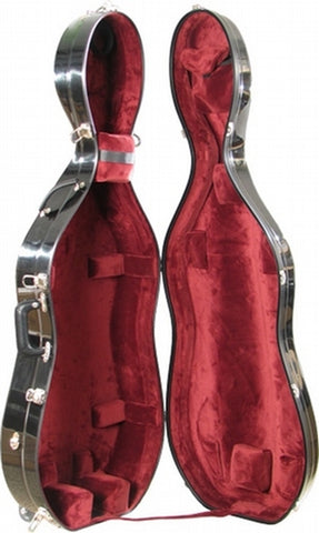 Bobelock 2000LS Fiberglass Suspension LARGE Cello Case, Wheels