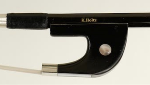 K. Holtz FG model 10 Fiberglass Bass Bow- German Frog