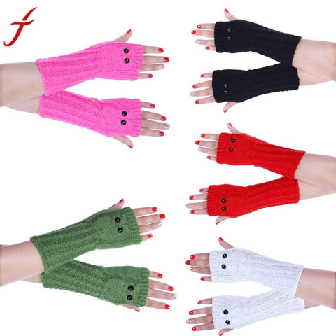 Fashion Hand & Wrist Warmer Knitted Owl  Fingerless Gloves K