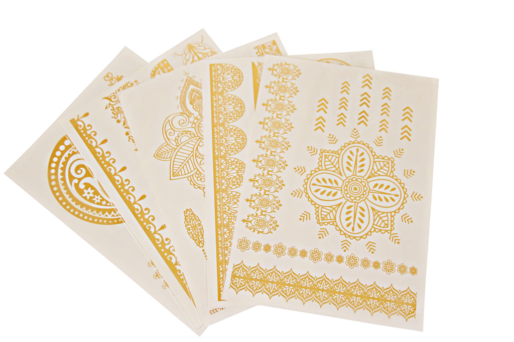 Temporary Gold Tattoo Set