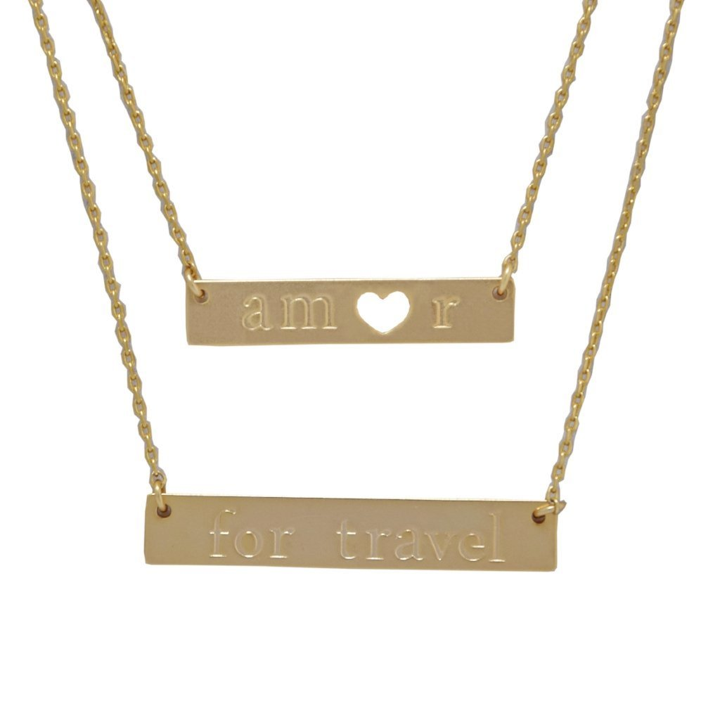 Amor for Travel Necklace - Gold