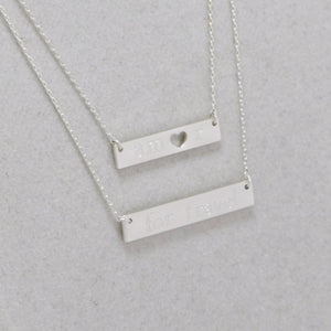 Amor for Travel Necklace - Silver