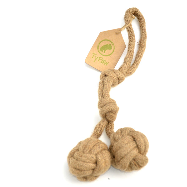 Organic Rope Toy - Available on Amazon Canada - TyPawCafe