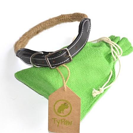 Rope Dog Collar|Leather Strap | Brass Buckle| Ditka Series - TyPawCafe