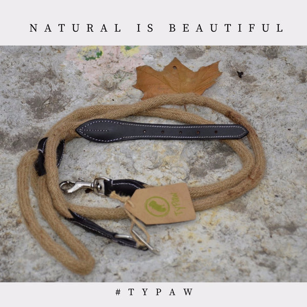 TyPaw - Durable and Sturdy Rope Dog Leash - Great for Walking, Running, Hiking.