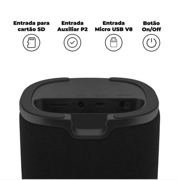 CAIXA DE SOM BLUETOOTH & CARREGADOR WIRELESS TANK