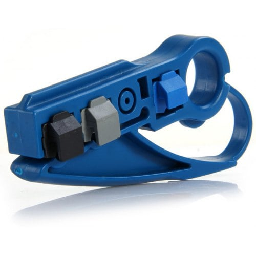 AG Cabes Ethernet and Coaxial Cable Stripper - Blue