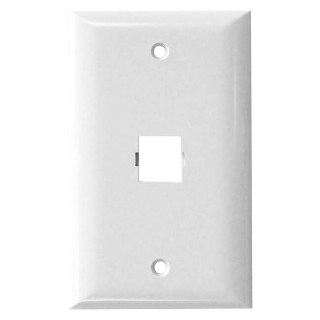 Shuttle SE-2-2501-85 1-port faceplate, single gang, smooth finish - White