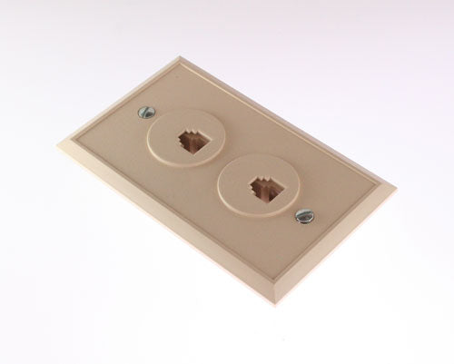 Shuttle SE-625B3-6-50 Dual Phone Face Wall Plate - Ivory