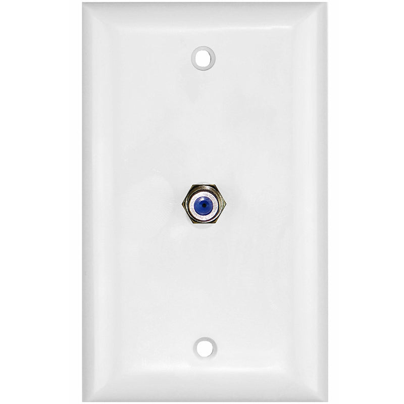 Mediabridge Wall Plate with F81 Jack - White