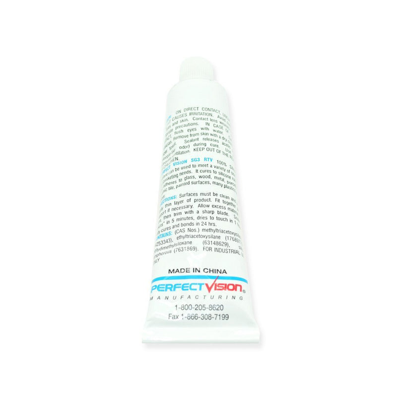 Perfect Vision SG3 Silicone Sealant 3 Oz Clear Waterproof Seal