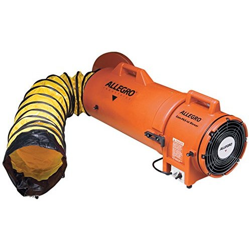 Allegro 9533-15 Plastic Compaxial Blower with 15' Ducting and Canister Assembly