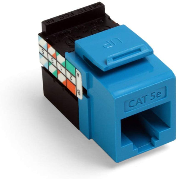 Leviton Cat5E Quickport Connector - Blue