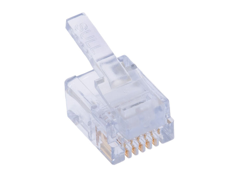 4 Pin RJ11 RJ-11 4P4C Modular Plug Telephone Phone Connector - Bag of 50