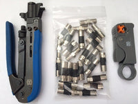 Coaxial RG6 & RG11 Compression Tool Kit