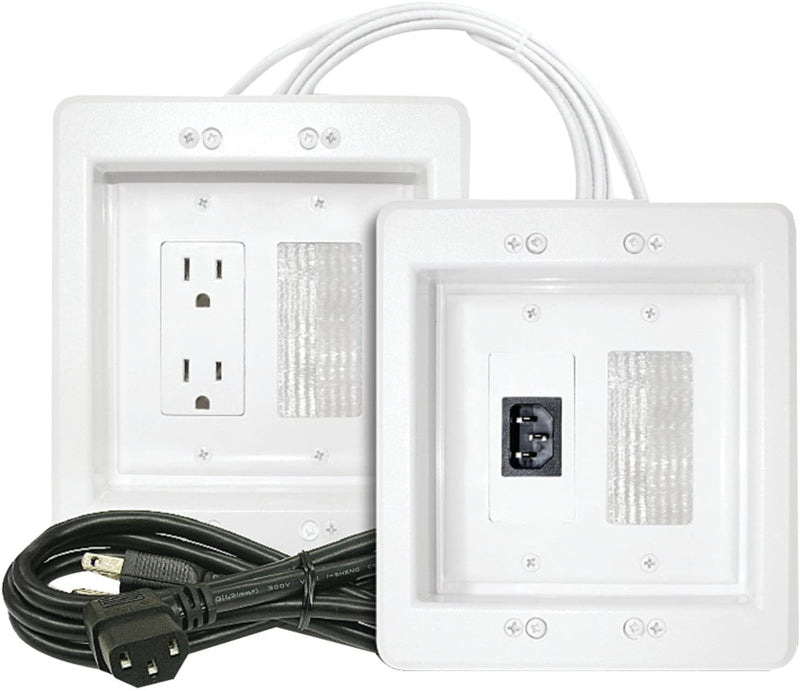 MIDLITE Power Jumper HDTV Power Relocation Kit (Includes Pre-Wired Cable), White